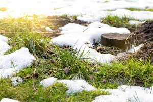 Melting snow means a potential for water damage
