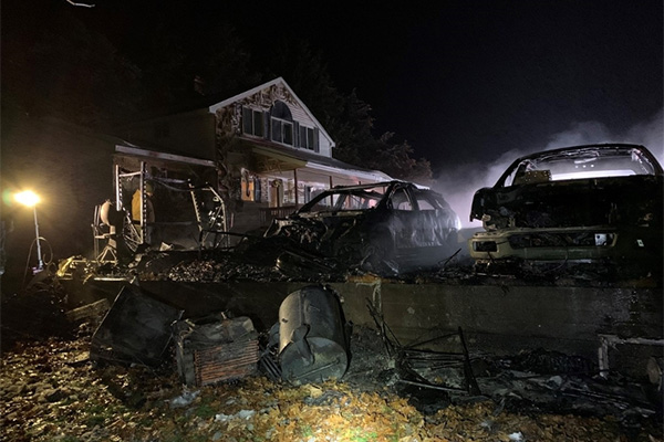 Garage fire causes an estimated $250k in damages