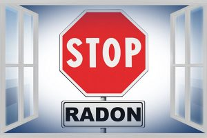 The type of radiation that comes from Radon